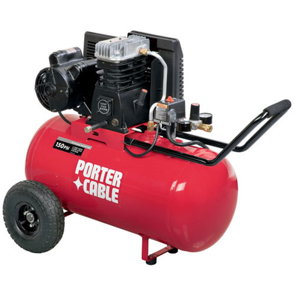 porter cable 20 gallon 2 hp oil lube induction horizontal air compressor c5512 - Milwaukee Framing Nailer