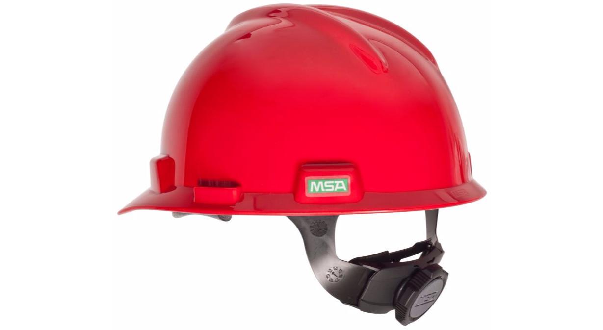 Msa V Gard Red Hard Hat 475 363