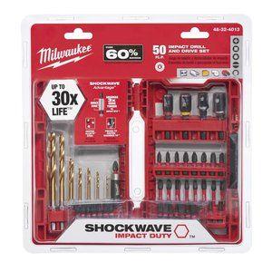 "Pack of 2 Milwaukee 48-32-4418 Shockwave Impact Slotted 1//4/"" Insert Bits"