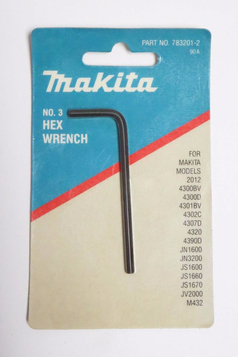 783201-2 Hex Wrench for Makita 4300D Jigsaw Cutter