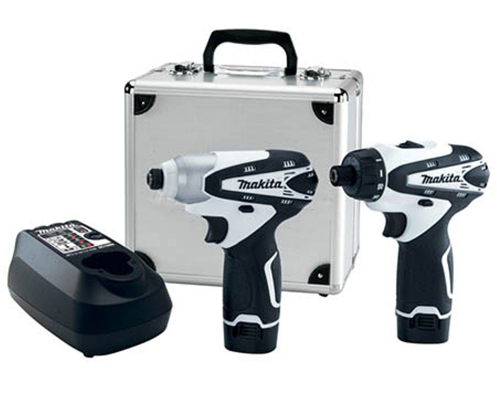 Makita 10 8 Volt 2 piece Compact Drill Driver and Impact Driver Combo Kit -  LCT203W