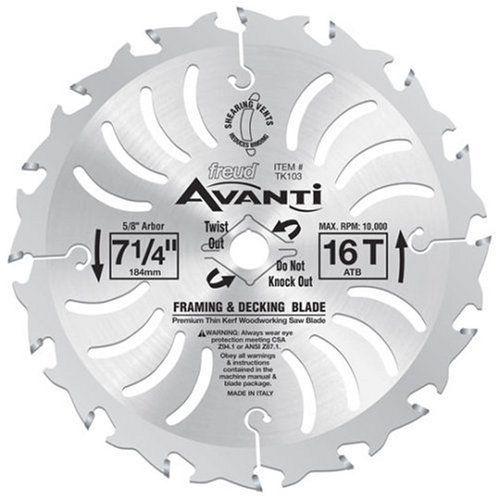 "Freud Avanti 7-1//4/"" 40 Tooth ATB Thin Kerf Finishing Saw Blade TK303"
