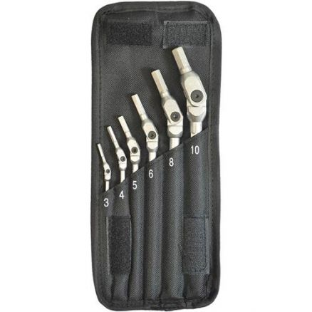 Bondhus 6 Pc. HEX-PRO Pivot Head Hex Metric Wrench Set - 00010