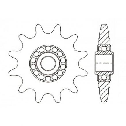 "Idler Sprocket Furnished with Hardened Teeth 1/2"" bore 17 teeth - 04017E08"
