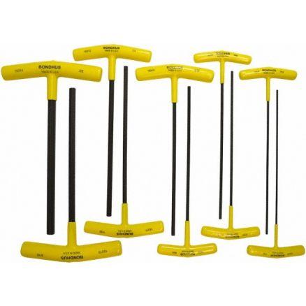 Bondhus 10-Pc. Hex Key T-handles, 9-Inch Length - 15338