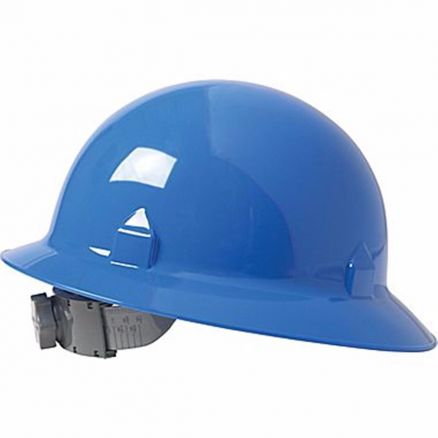 Jackson Safety Block Head Blue Full Brim Hard Hat 8 Point Ratchet Suspension - 20699
