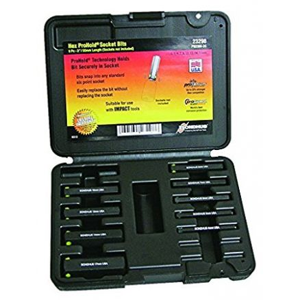 Bondhus ProHold® 9-Pc. Metric Hex Tip Socket Bit Set - 23298