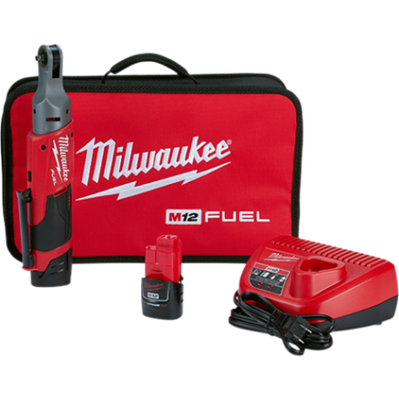 "Milwaukee M12 FUEL™ 1/4"" Ratchet Kit 2556-22"