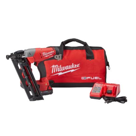 Milwaukee M18™ FUEL™ 16-Gauge Angled Finish Nailer Kit 2742-21CT
