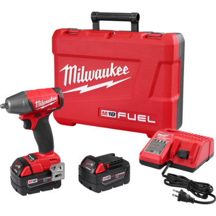 "Milwaukee M18 FUEL™ 3/8"" Compact Impact Wrench w/ Friction Ring Kit - 2754-22"