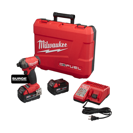 "Milwaukee M18 FUEL™ SURGE™ 1/4"" Hex Hydraulic Driver Kit 2760-22"