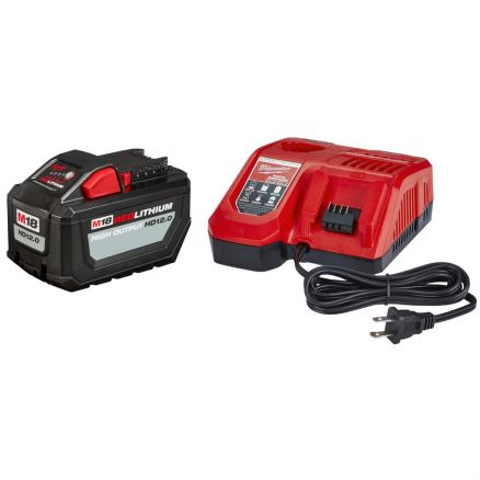 Milwaukee 48-59-1200 M18 REDLITHIUM™ HIGH OUTPUT™ HD12.0 Battery Pack w/ Charger