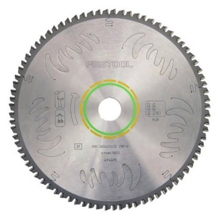 Festool Fine 80-Tooth Saw Blade - 495387