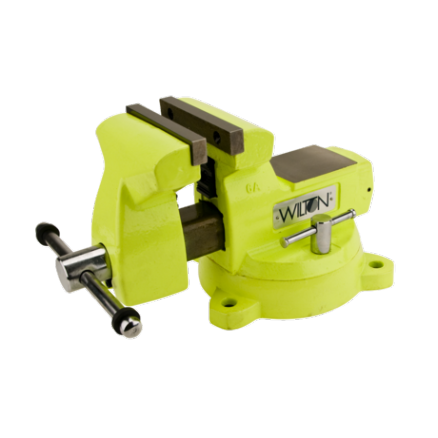 """Wilton High-Visibility 5"""" Safety Vise with Swivel Base - 63187"""
