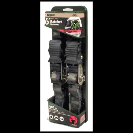 "CargoLoc 1"" x 6' Ratchet Tie Downs with J-Hooks - 84002"