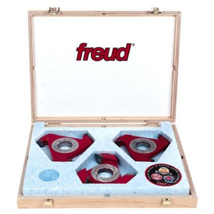 "Freud Cassette 65 Molding Cutter Shaper Set for 1-1/4"" Bore - CS71MBA3"