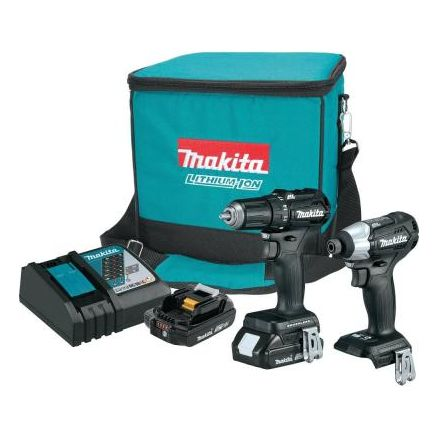 Makita 18V LXT Lithium-Ion Sub-Compact Brushless Cordless 2-Pc. Combo Kit - CX200RB