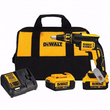 DeWalt 20 Volt Drywall Brushless Screwgun Kit - DCF620M2