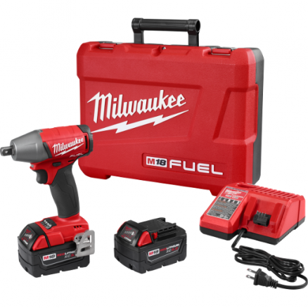 "Milwaukee M18 FUEL™ 1/2"" Compact Impact Wrench with Detent Pin Kit - 2755-22"