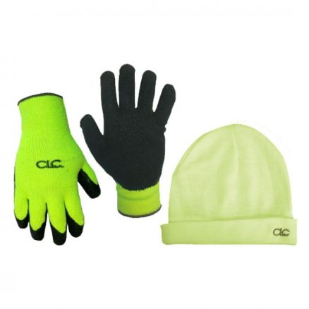 CLC Hi-Viz Winter Beanie and Glove Combo - PK3903