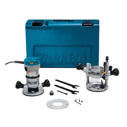 Makita 2¼ HP Router Kit with Plunge Base - RF1101KIT2
