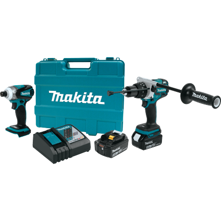 Makita 18V LXT Lithium-Ion Brushless 2-Piece Combo Kit - XT252TB
