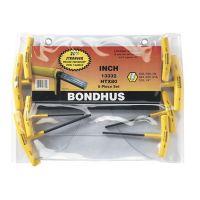 """Bondhus Set of 8 Hex T-handles, sizes 3/32-1/4"""" - 13332A"""