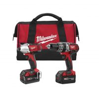 "Milwaukee M18™ 2-Piece 1/2"" Drill Driver with Hammer Mode and 1/4"" Hex Impact Driver Combo Kit - 2697-22"