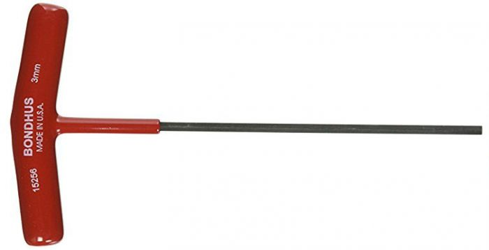 "BONDHUS 3 mm T-Handle Hex Driver 6/"" 3 mm 15256"