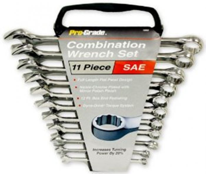 11-Piece Pro-Grade 19002 SAE Combination Wrench Set