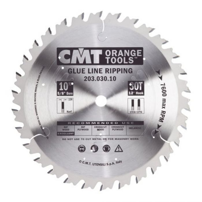 Cmt Table Saw Glue Line Ripping Blade 10 X 30 Tooth 126 Kerf 5